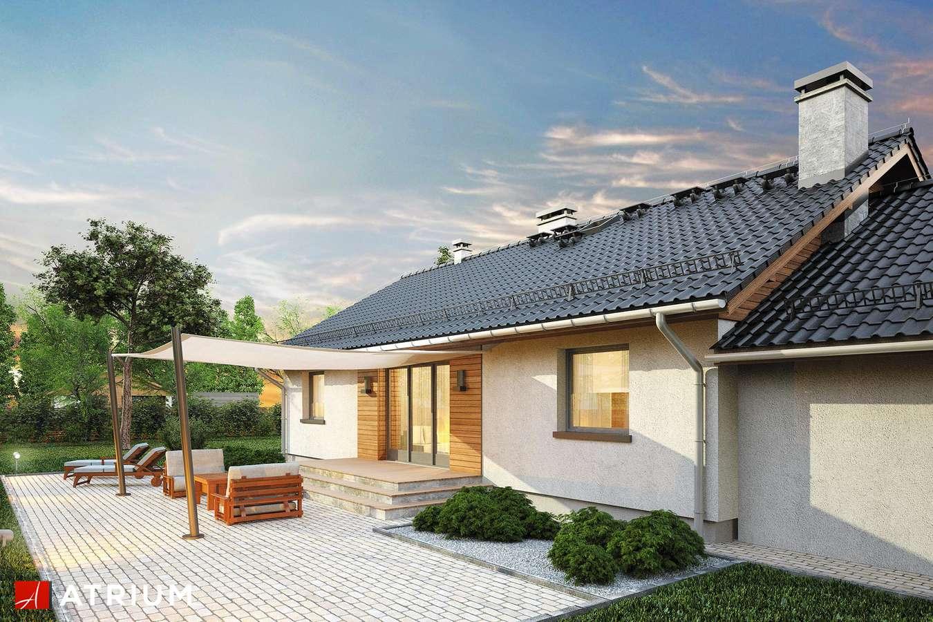 Projekty domów - Projekt domu parterowego MARS II - wizualizacja 2