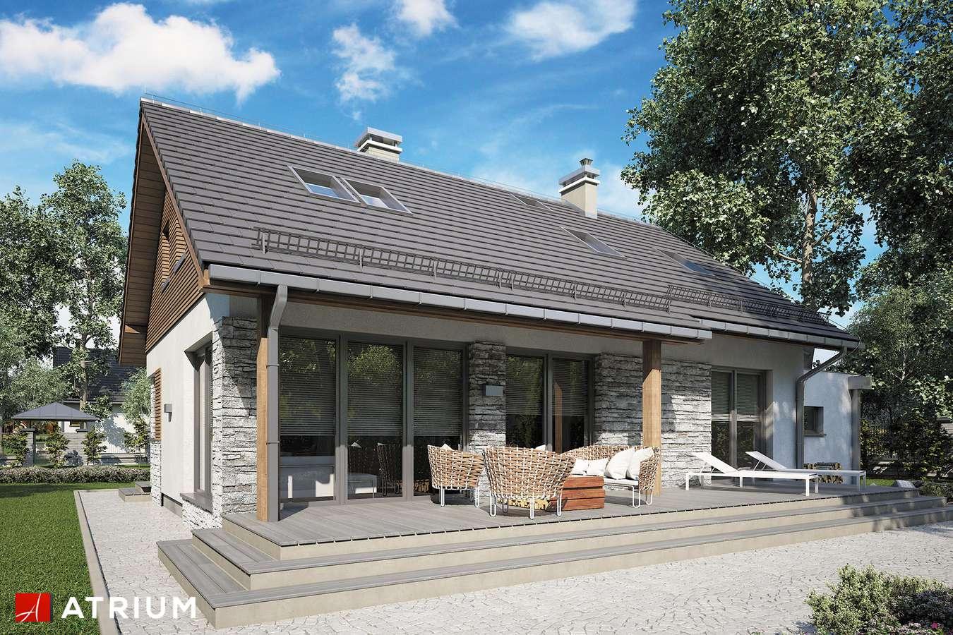 Projekty domów - Projekt domu z poddaszem RICARDO XIV - wizualizacja 2