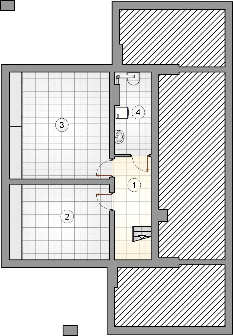 Rzut piwnicy - projekt Pelikan XIX
