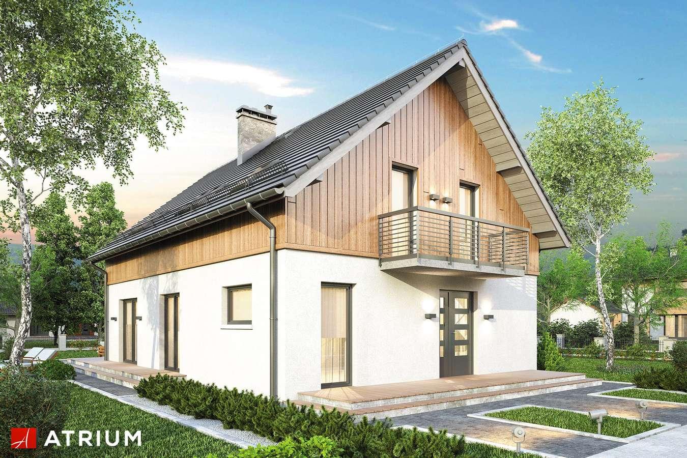 Projekty domów - Projekt domu z poddaszem PIK - wizualizacja 1