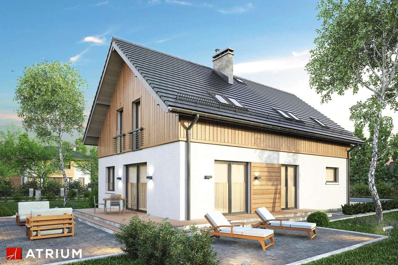Projekty domów - Projekt domu z poddaszem PIK - wizualizacja 2