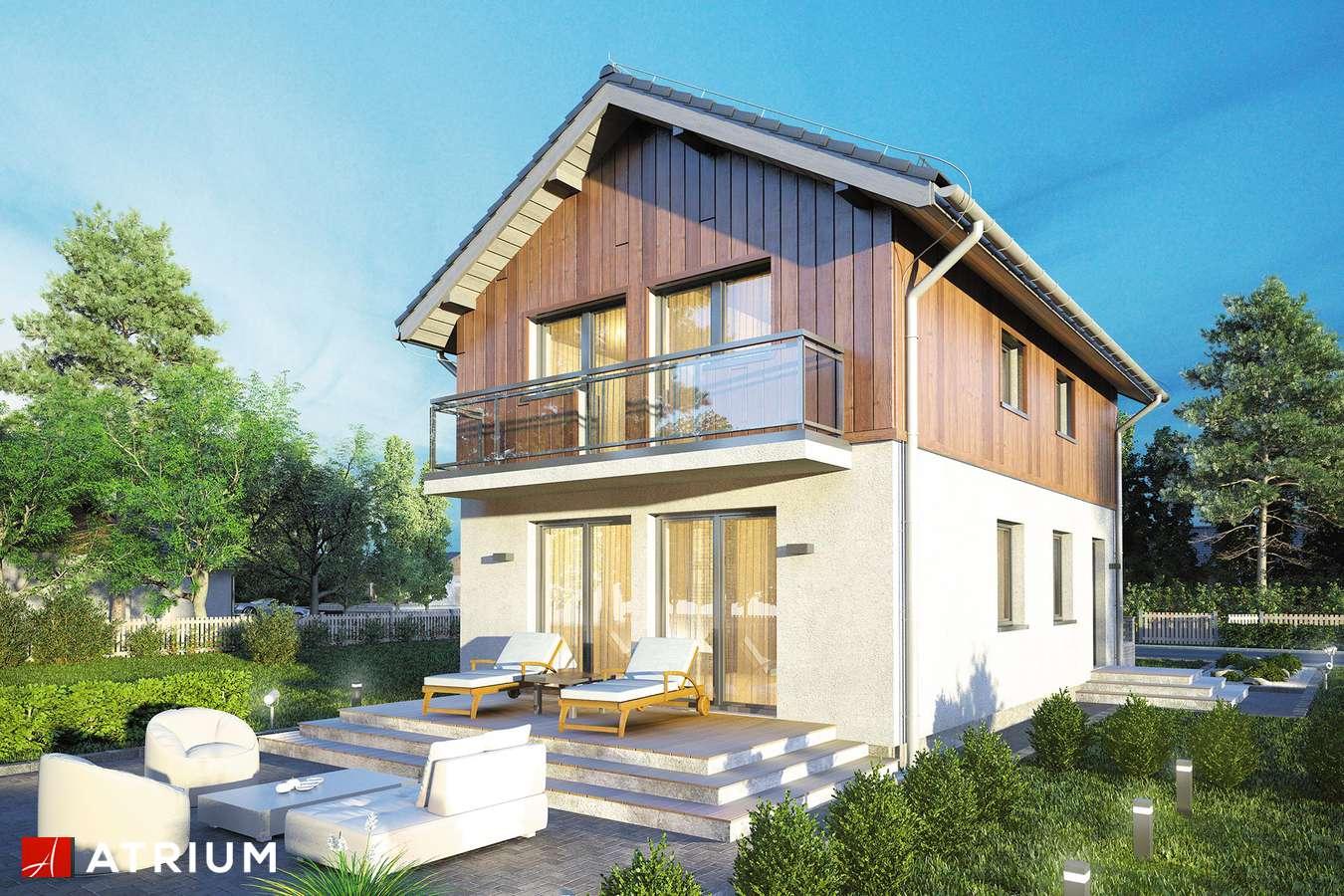 Projekty domów - Projekt domu piętrowego KAMYCZEK II - wizualizacja 1