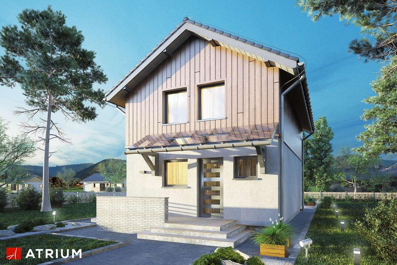Projekty domów - Projekt domu piętrowego KAMYCZEK II - wizualizacja 2
