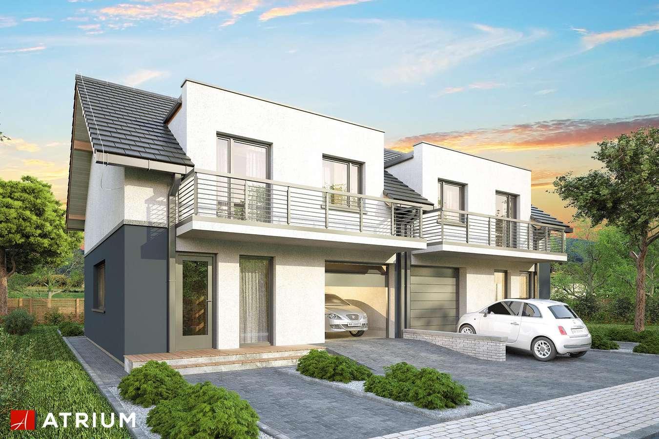 Projekty domów - Projekt domu z poddaszem DOUBLE HOUSE - wizualizacja 1