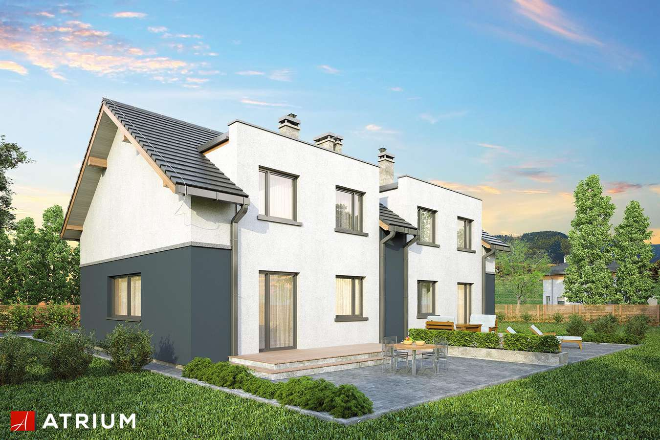 Projekty domów - Projekt domu z poddaszem DOUBLE HOUSE - wizualizacja 2