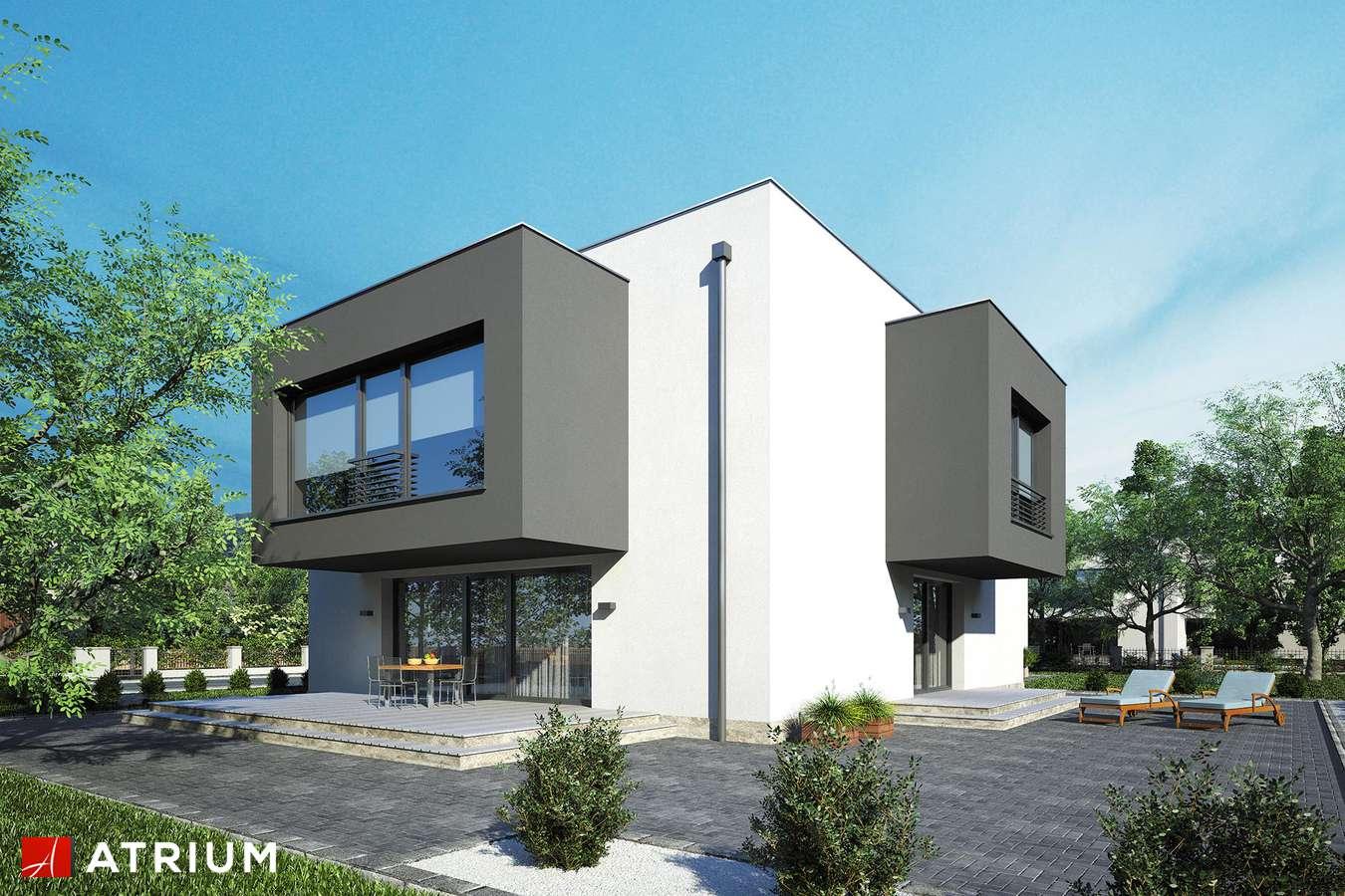 Projekty domów - Projekt domu piętrowego SENATOR IV - wizualizacja 1 - wersja lustrzana