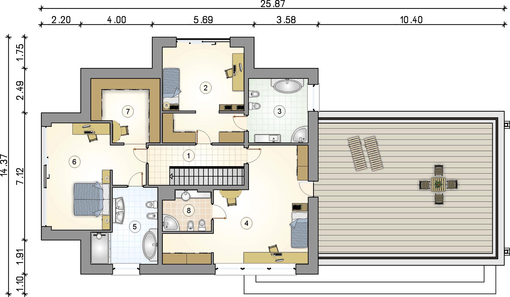 Rzut piętra - projekt Senator IV