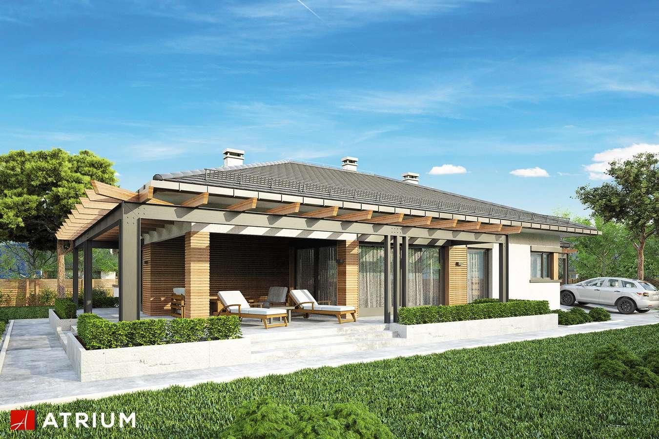 Projekty domów - Projekt domu parterowego MADERA - wizualizacja 2