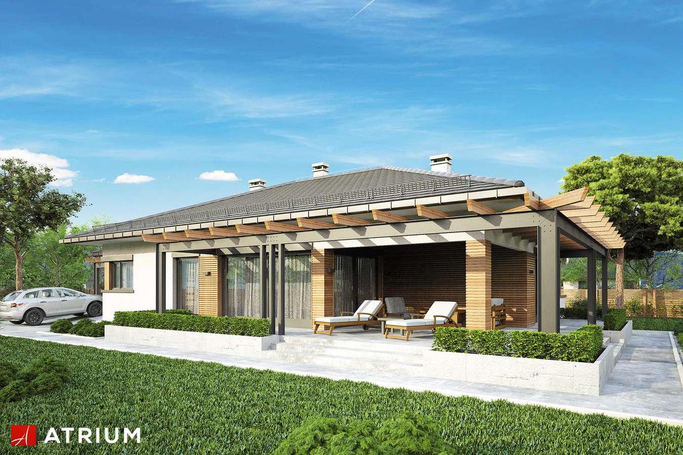 Projekty domów - Projekt domu parterowego MADERA - wizualizacja 2 - wersja lustrzana