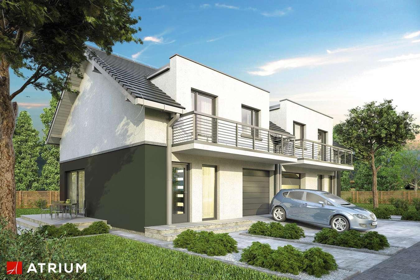 Projekty domów - Projekt domu z poddaszem DOUBLE HOUSE II - wizualizacja 1
