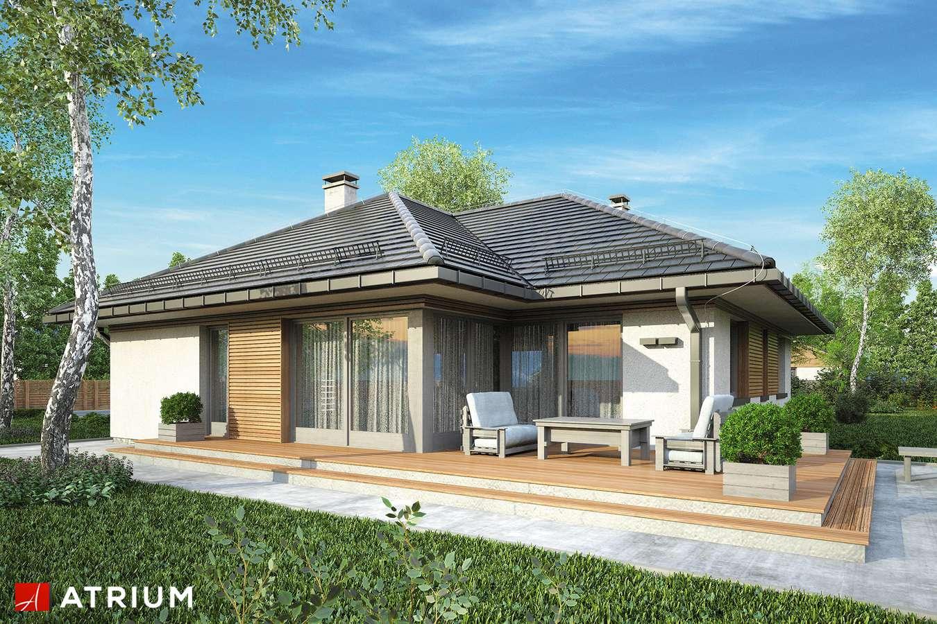 Projekty domów - Projekt domu parterowego WINONA - wizualizacja 2 - wersja lustrzana