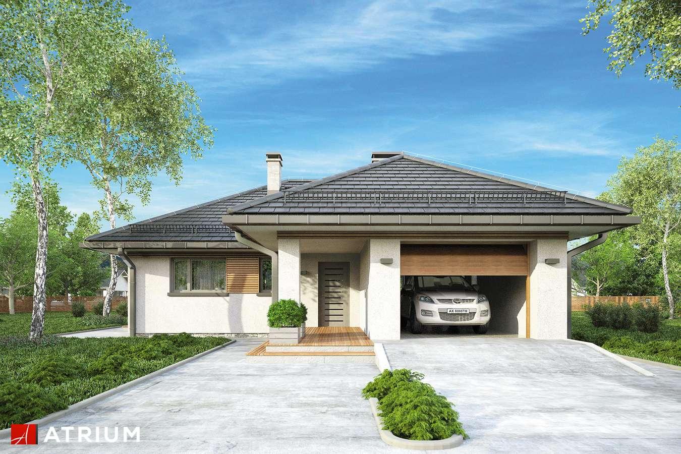 Projekty domów - Projekt domu parterowego WINONA - wizualizacja 1