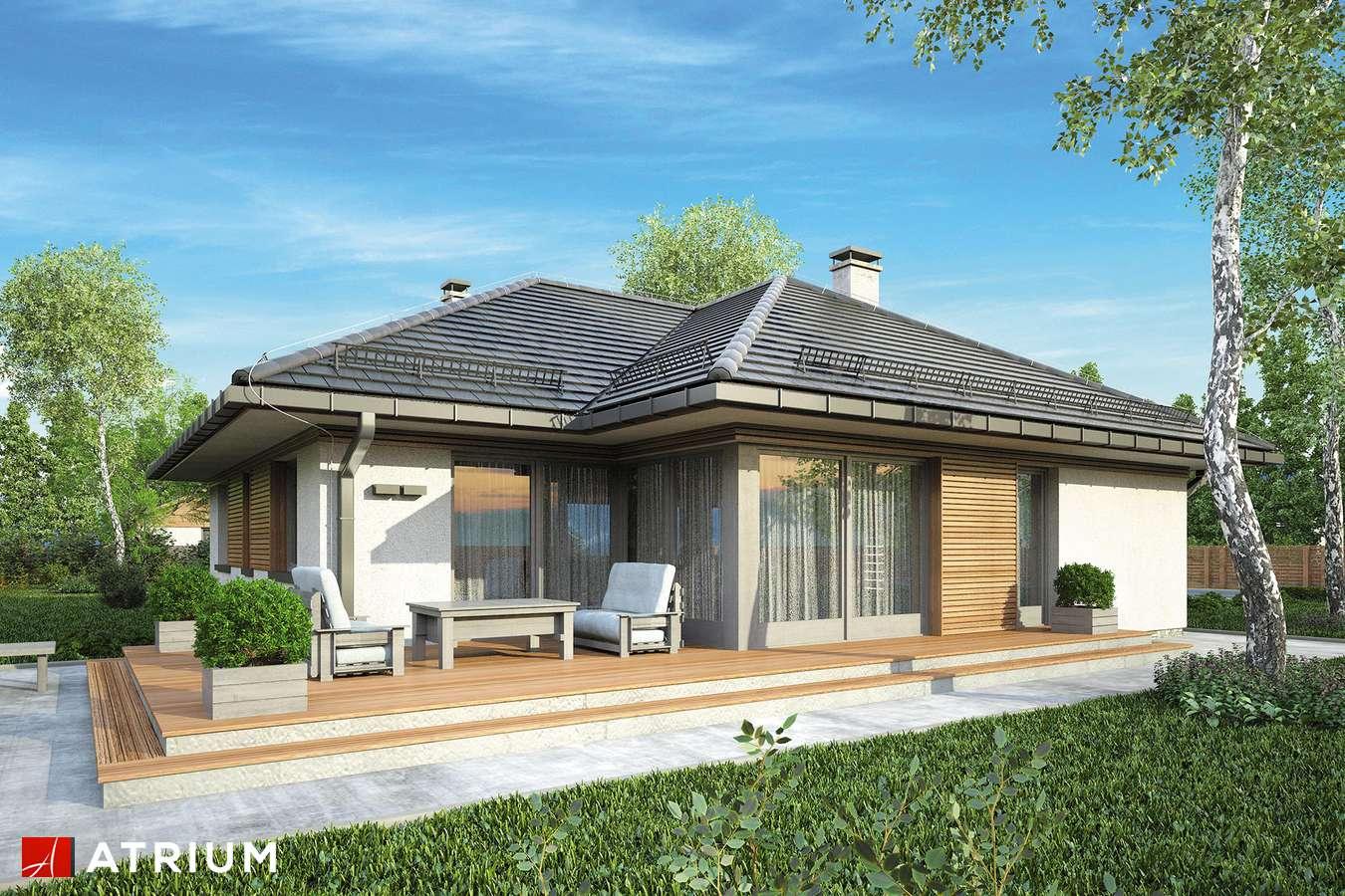 Projekty domów - Projekt domu parterowego WINONA - wizualizacja 2