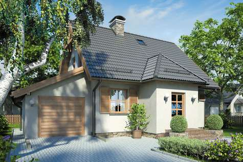 Projekt domu z poddaszem KUMOSZKA