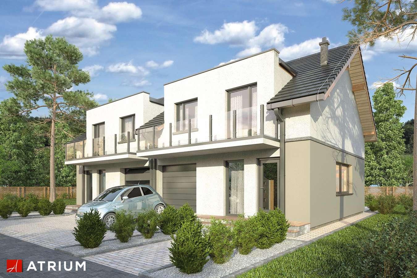 Projekty domów - Projekt domu z poddaszem DOUBLE HOUSE III - wizualizacja 1