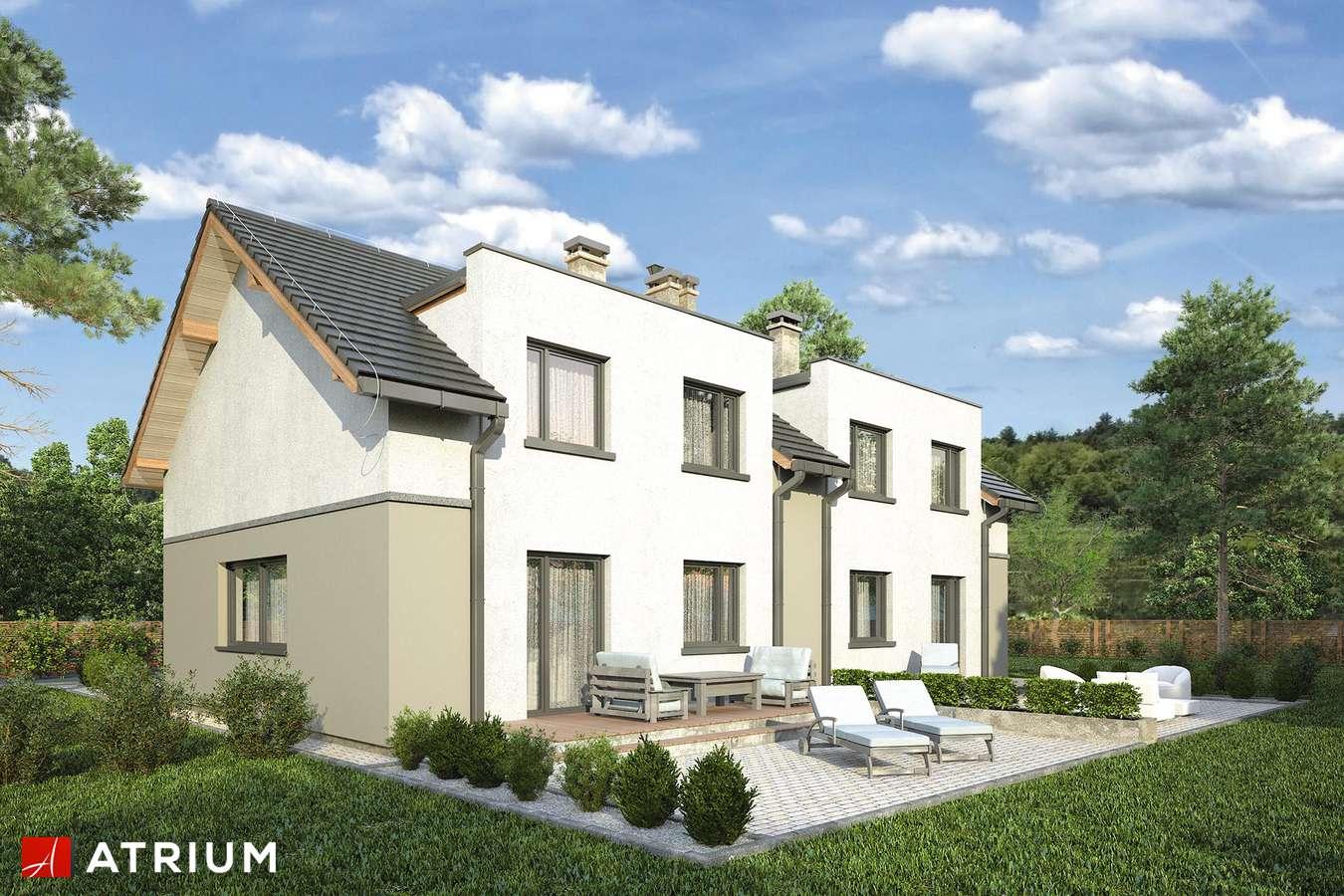 Projekty domów - Projekt domu z poddaszem DOUBLE HOUSE III - wizualizacja 2
