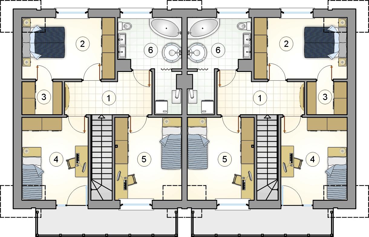 rzut poddasza - projekt Double House III