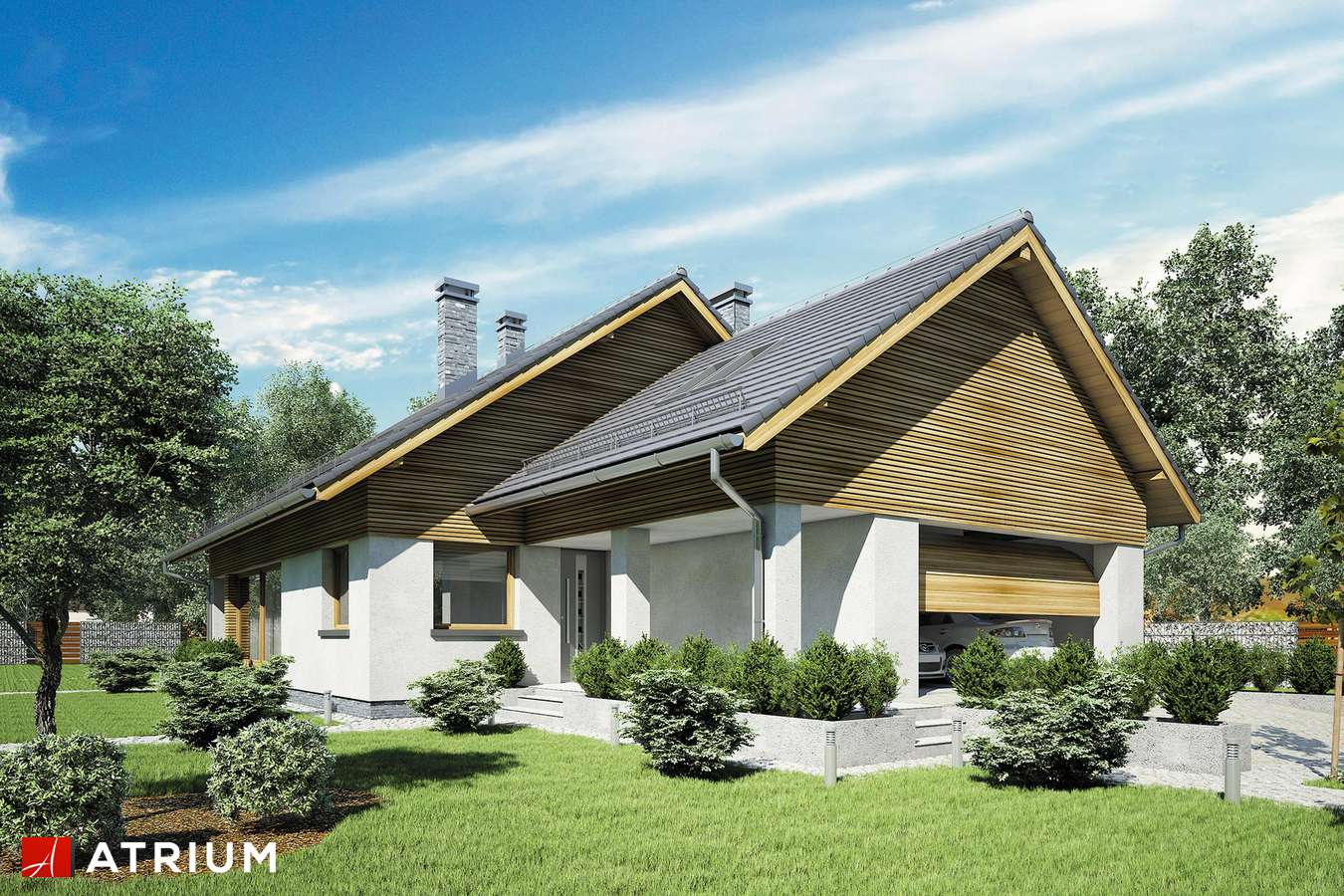 Projekt domu z poddaszem MERLIN V - wizualizacja 1