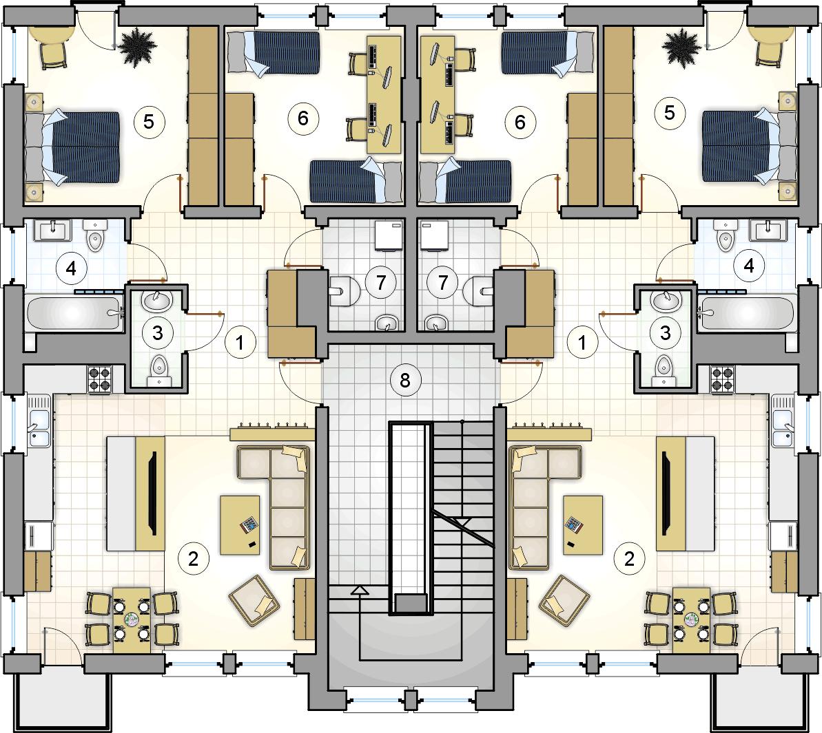 Rzut piętra - projekt Top Dom II