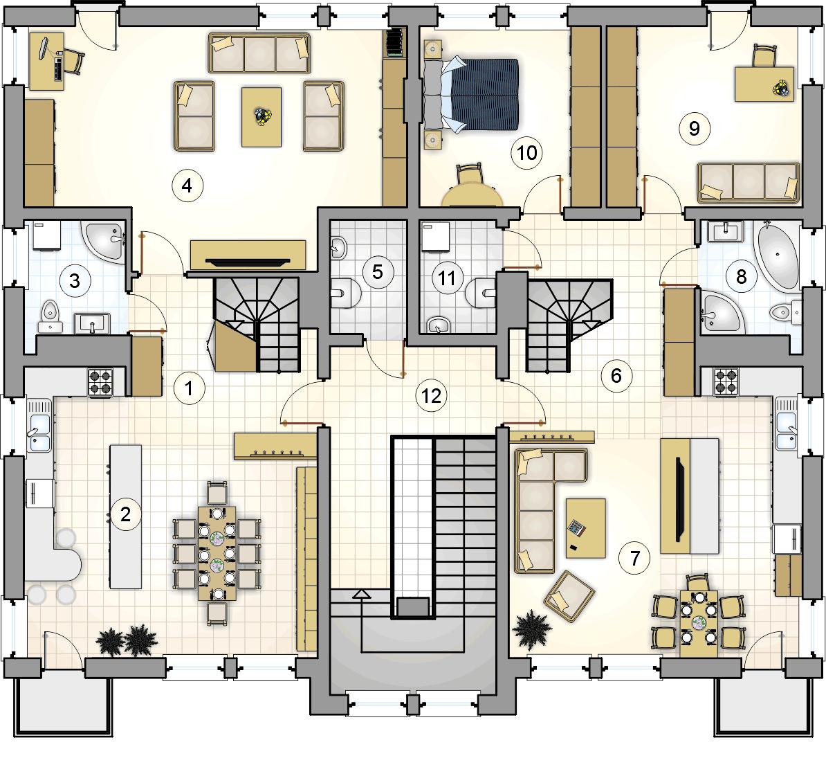 Rzut II piętra - projekt Top Dom II