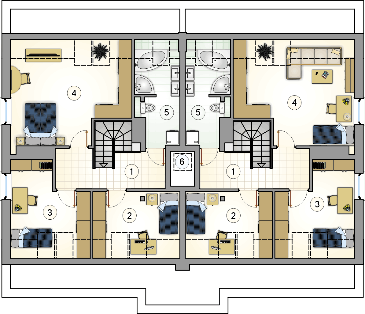 Rzut poddasza - projekt Top Dom II