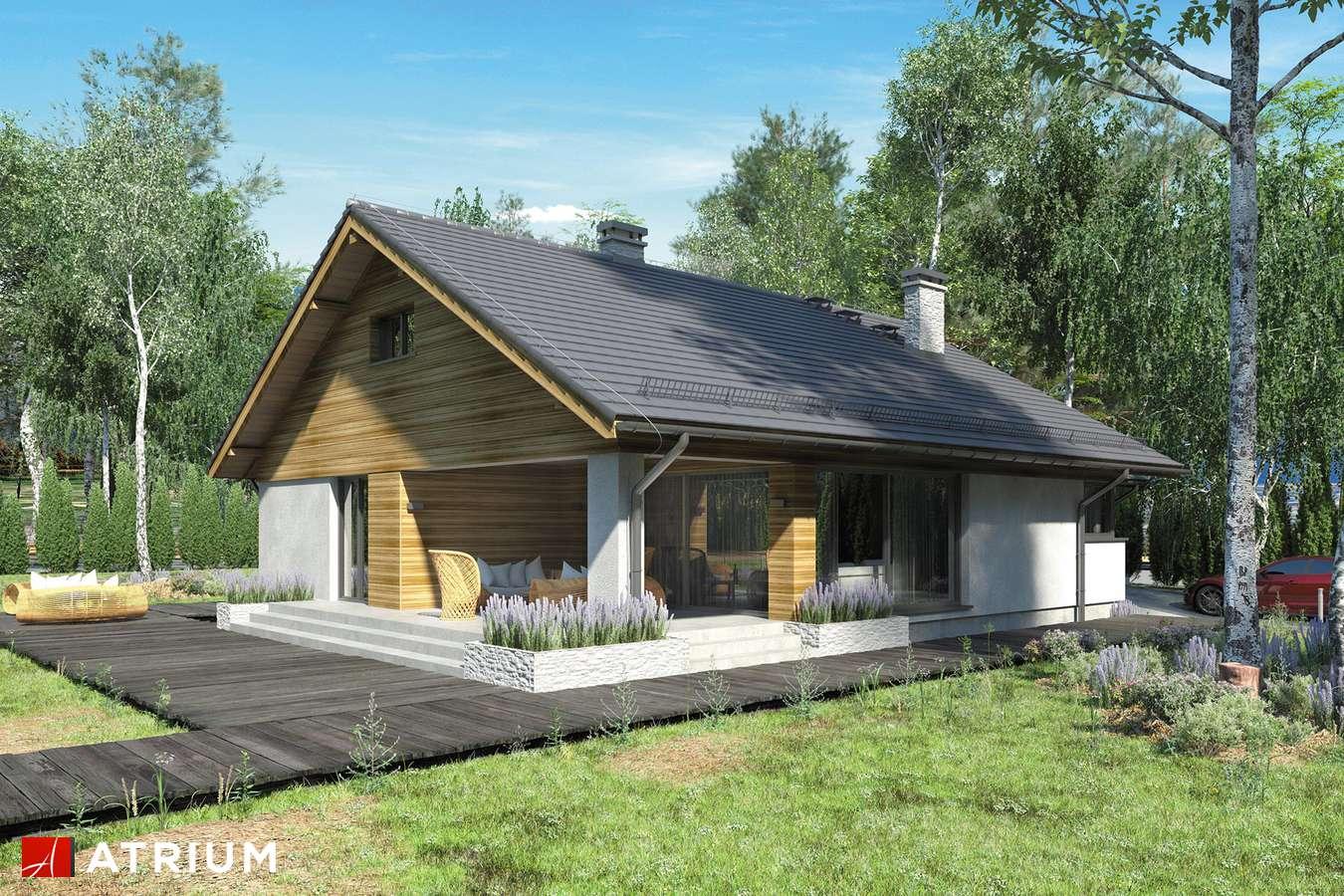 Projekty domów - Projekt domu z poddaszem KOS III - wizualizacja 1