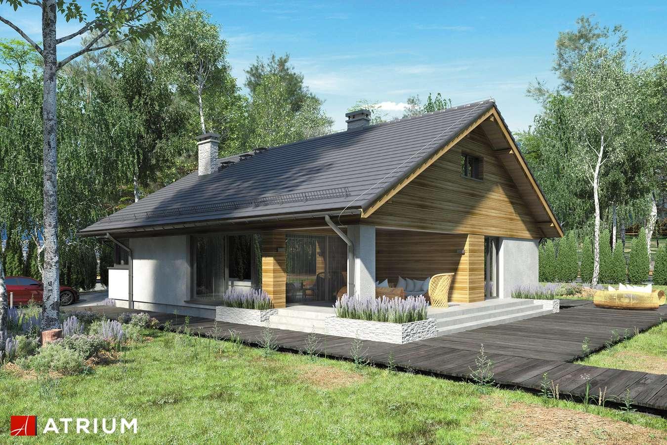 Projekty domów - Projekt domu z poddaszem KOS III - wizualizacja 1 - wersja lustrzana
