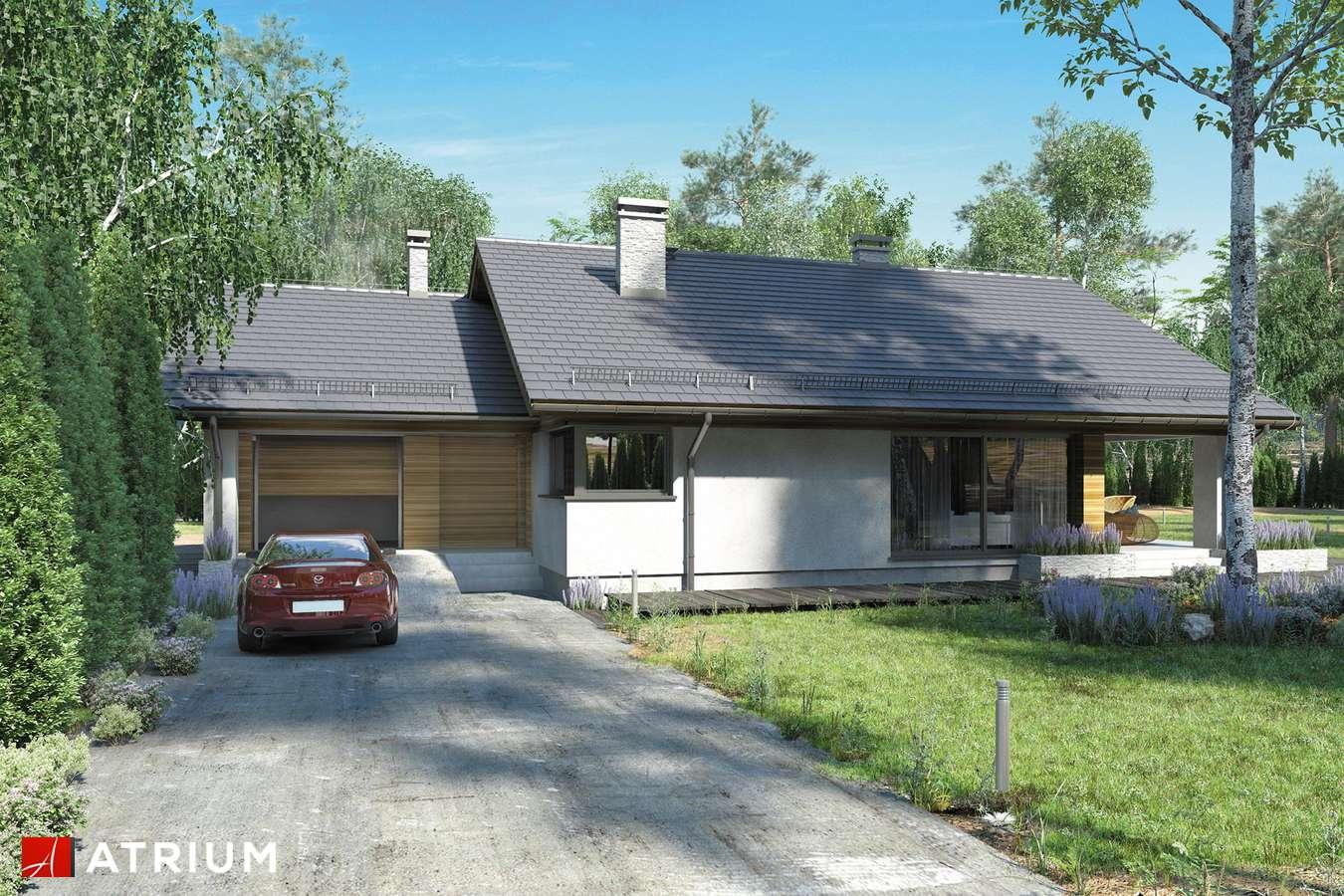 Projekty domów - Projekt domu z poddaszem KOS III - wizualizacja 2 - wersja lustrzana