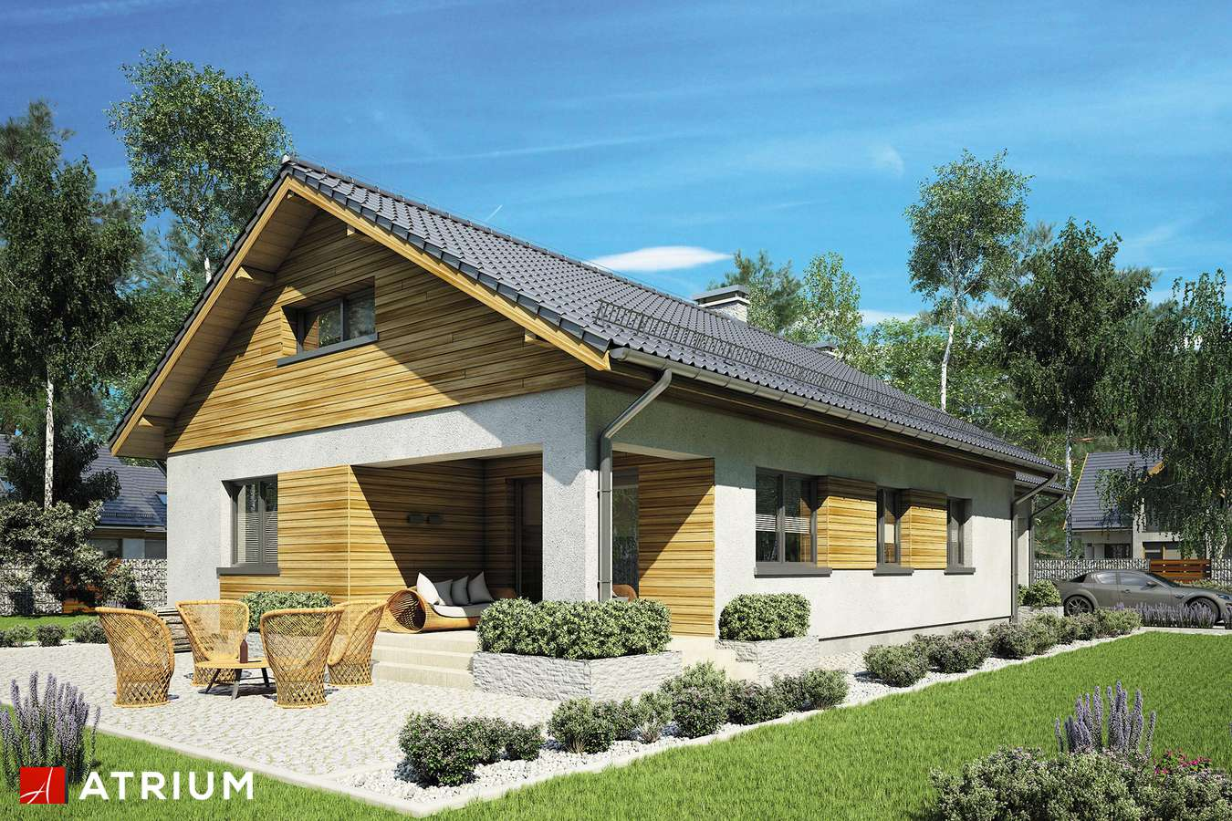 Projekt domu z poddaszem LEO - wizualizacja 1