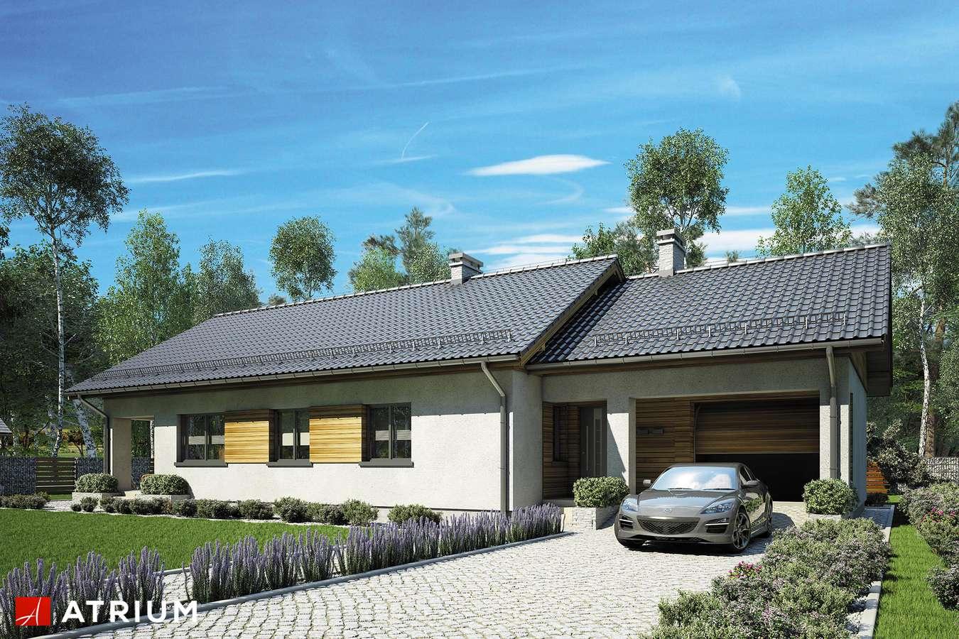 Projekt domu z poddaszem LEO - wizualizacja 2