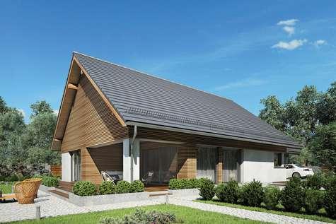 Projekt domu parterowego MERLIN SP SZ - wizualizacja 2
