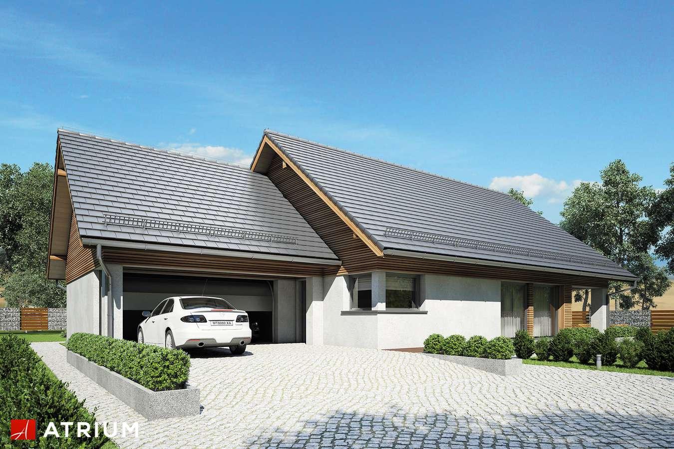 Projekty domów - Projekt domu parterowego MERLIN SP SZ - wizualizacja 1 - wersja lustrzana