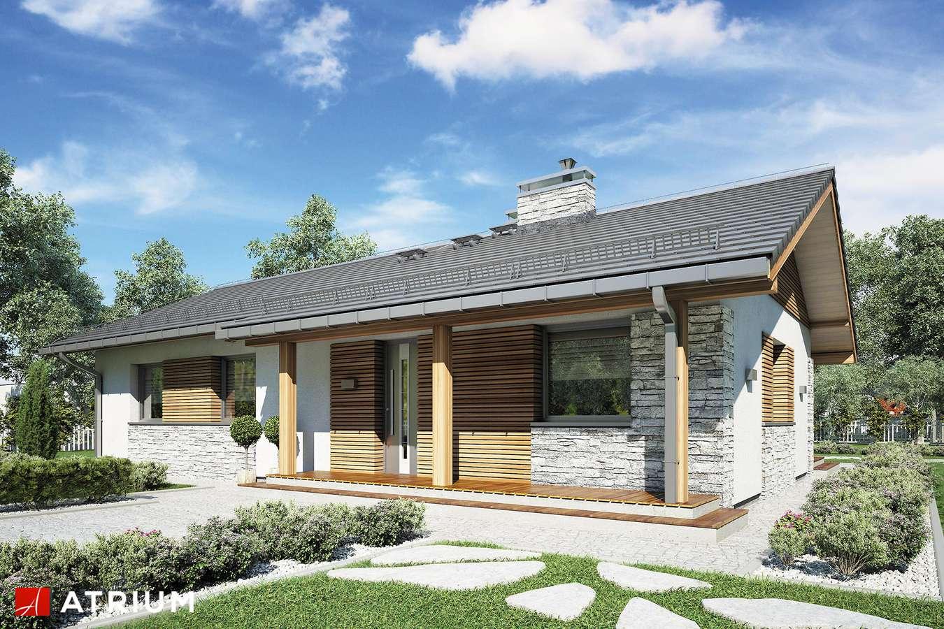 Projekty domów - Projekt domu parterowego ALBERTO - wizualizacja 2