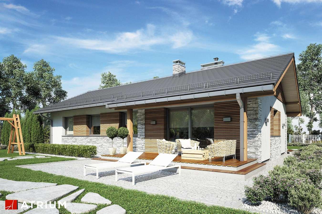 Projekty domów - Projekt domu parterowego ALBERTO - wizualizacja 1 - wersja lustrzana