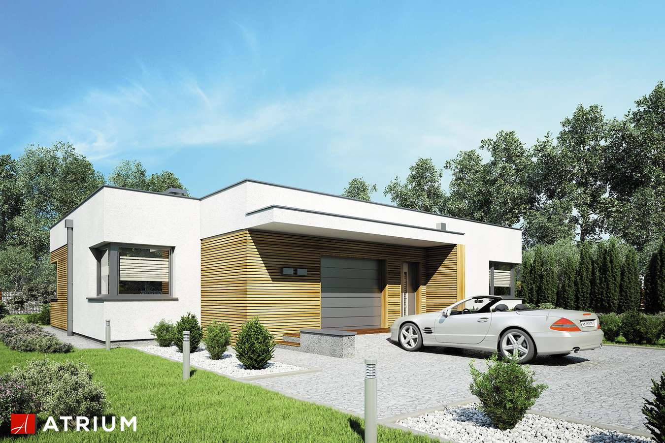 Projekty domów - Projekt domu parterowego IBIZA - wizualizacja 1
