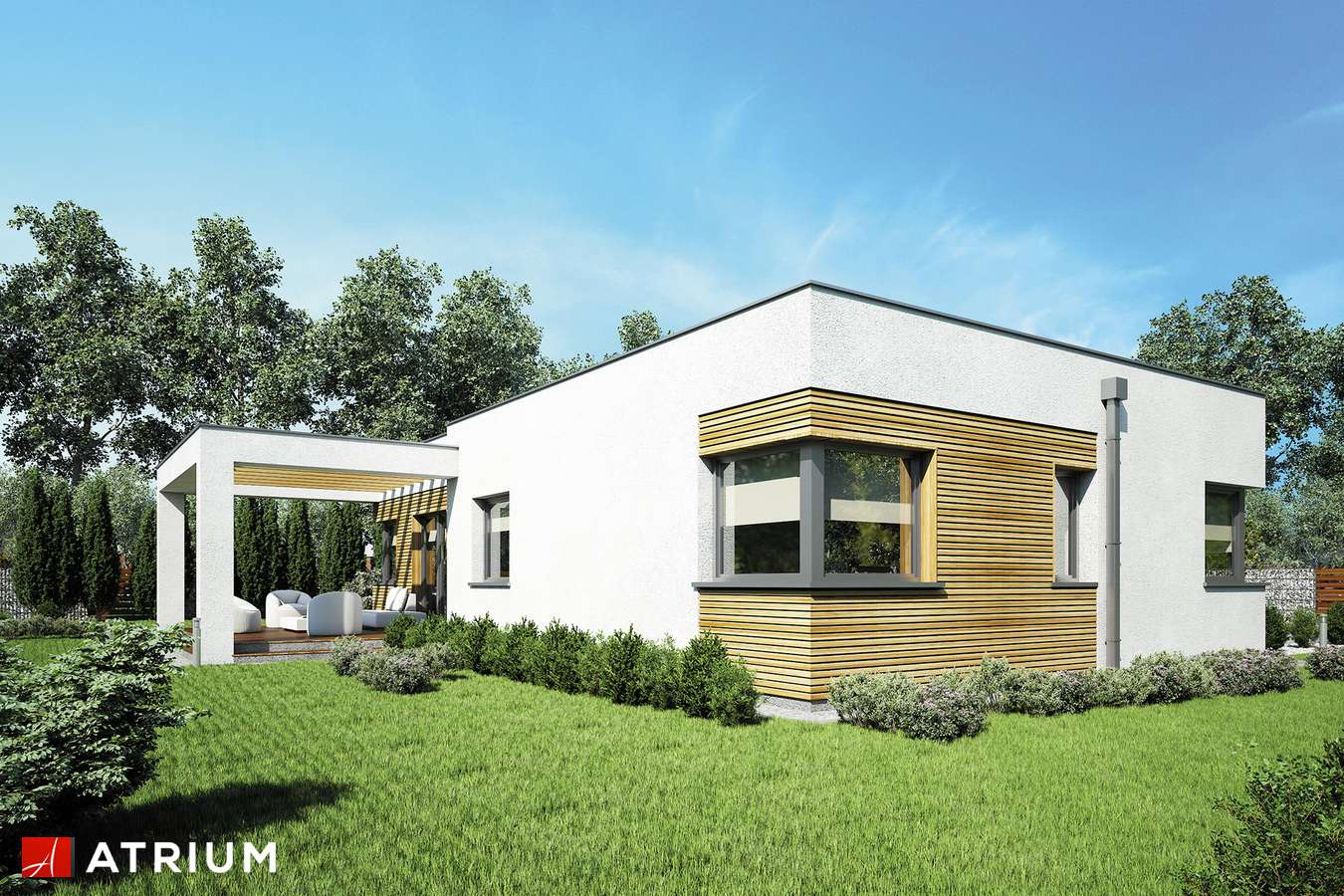 Projekty domów - Projekt domu parterowego IBIZA - wizualizacja 2