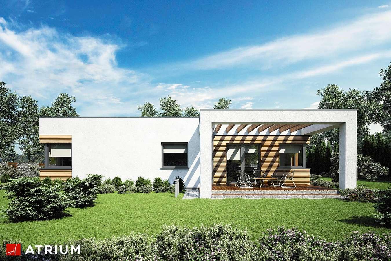 Projekty domów - Projekt domu parterowego IBIZA II - wizualizacja 2 - wersja lustrzana