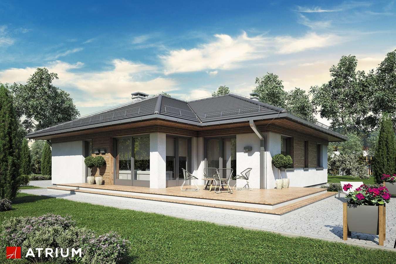 Projekty domów - Projekt domu parterowego MERIDA - wizualizacja 2 - wersja lustrzana
