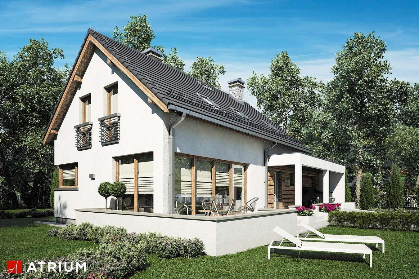 Projekty domów - Projekt domu z poddaszem RUMBA II - wizualizacja 1 - wersja lustrzana