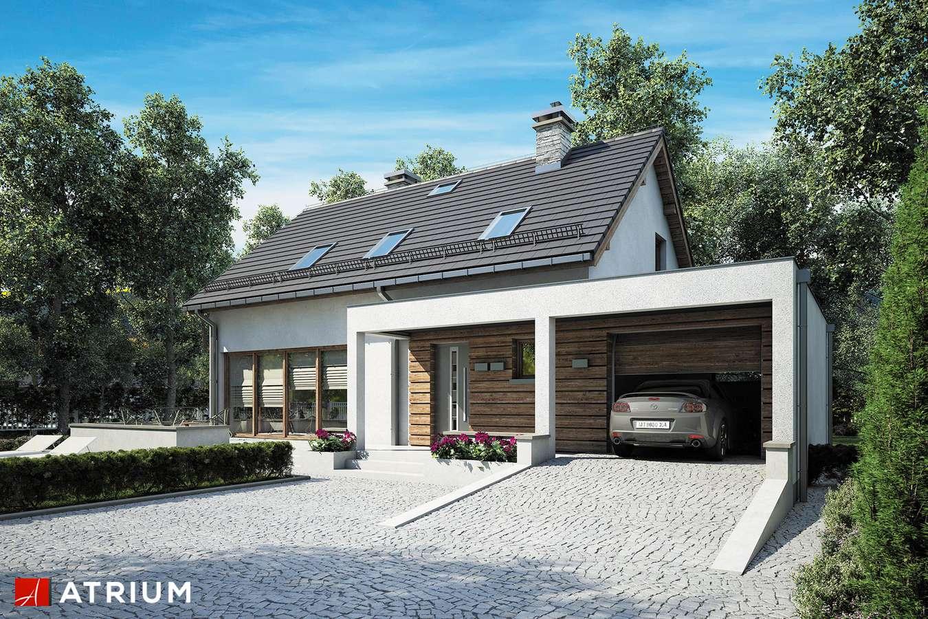 Projekty domów - Projekt domu z poddaszem RUMBA II - wizualizacja 2 - wersja lustrzana