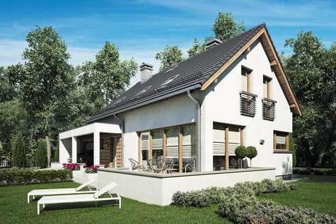 Projekt domu z poddaszem RUMBA II - wizualizacja 1