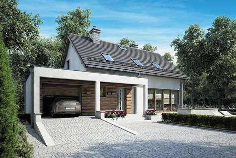 Projekt domu z poddaszem RUMBA II - wizualizacja 2