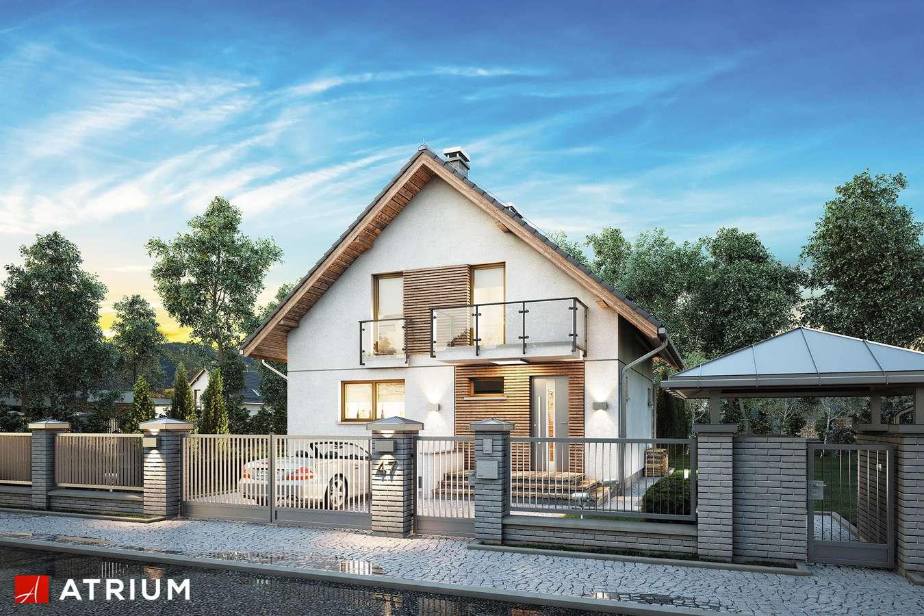 Projekty domów - Projekt domu z poddaszem KONKRET PLUS - wizualizacja 2
