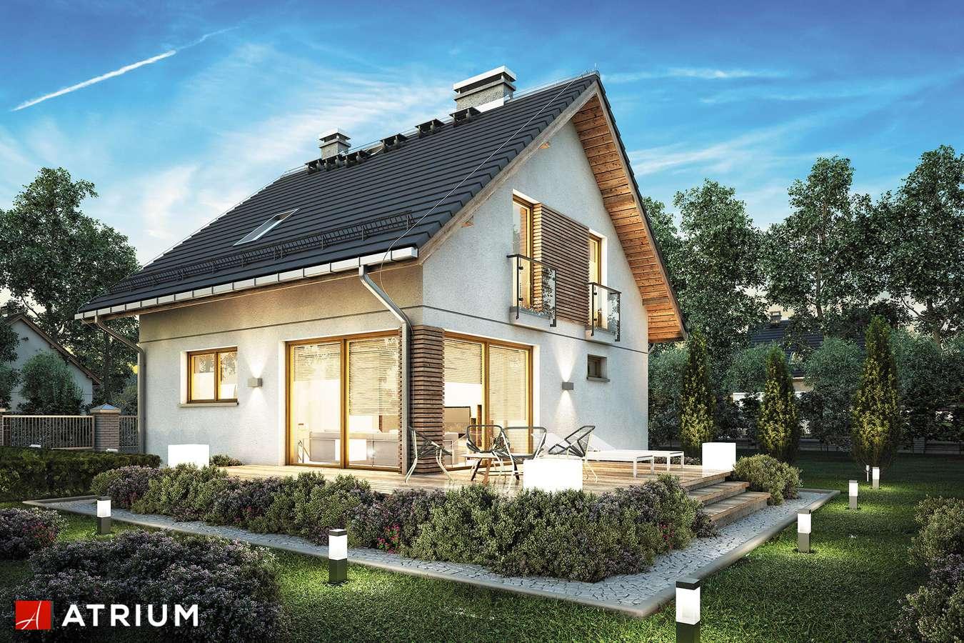Projekty domów - Projekt domu z poddaszem KONKRET PLUS - wizualizacja 1 - wersja lustrzana