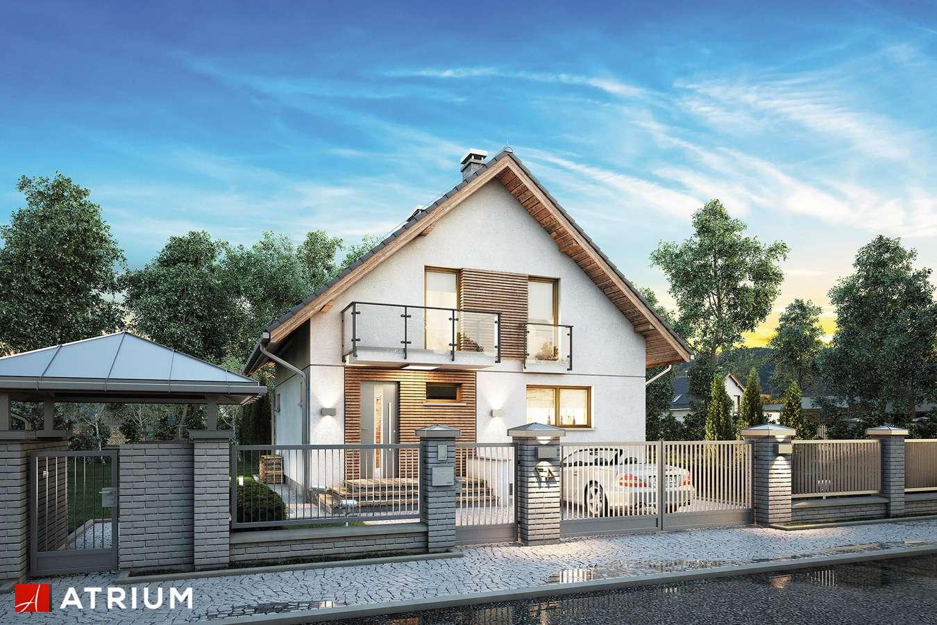Projekty domów - Projekt domu z poddaszem KONKRET PLUS - wizualizacja 2 - wersja lustrzana