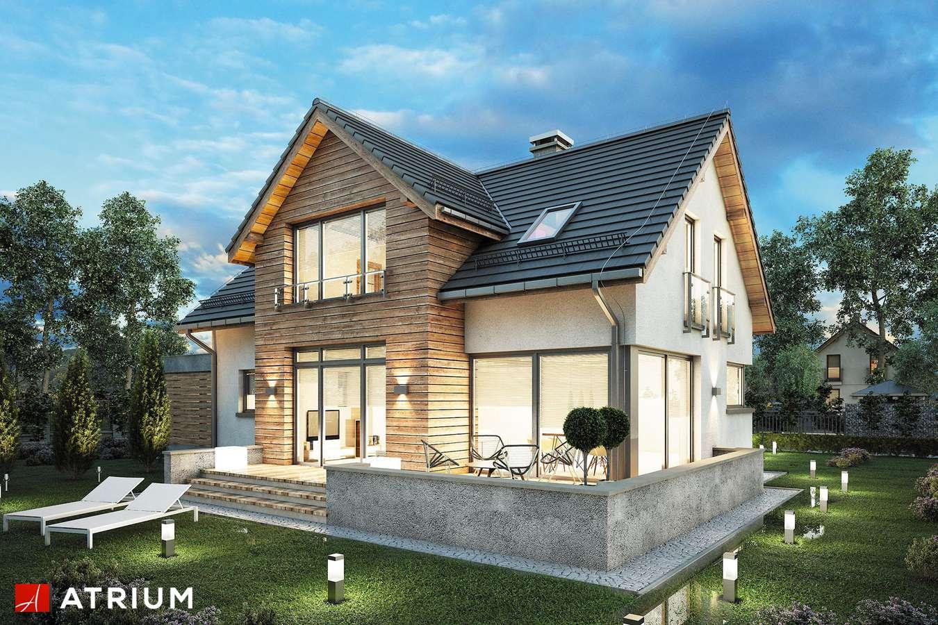 Projekty domów - Projekt domu z poddaszem SALSA II - wizualizacja 1 - wersja lustrzana