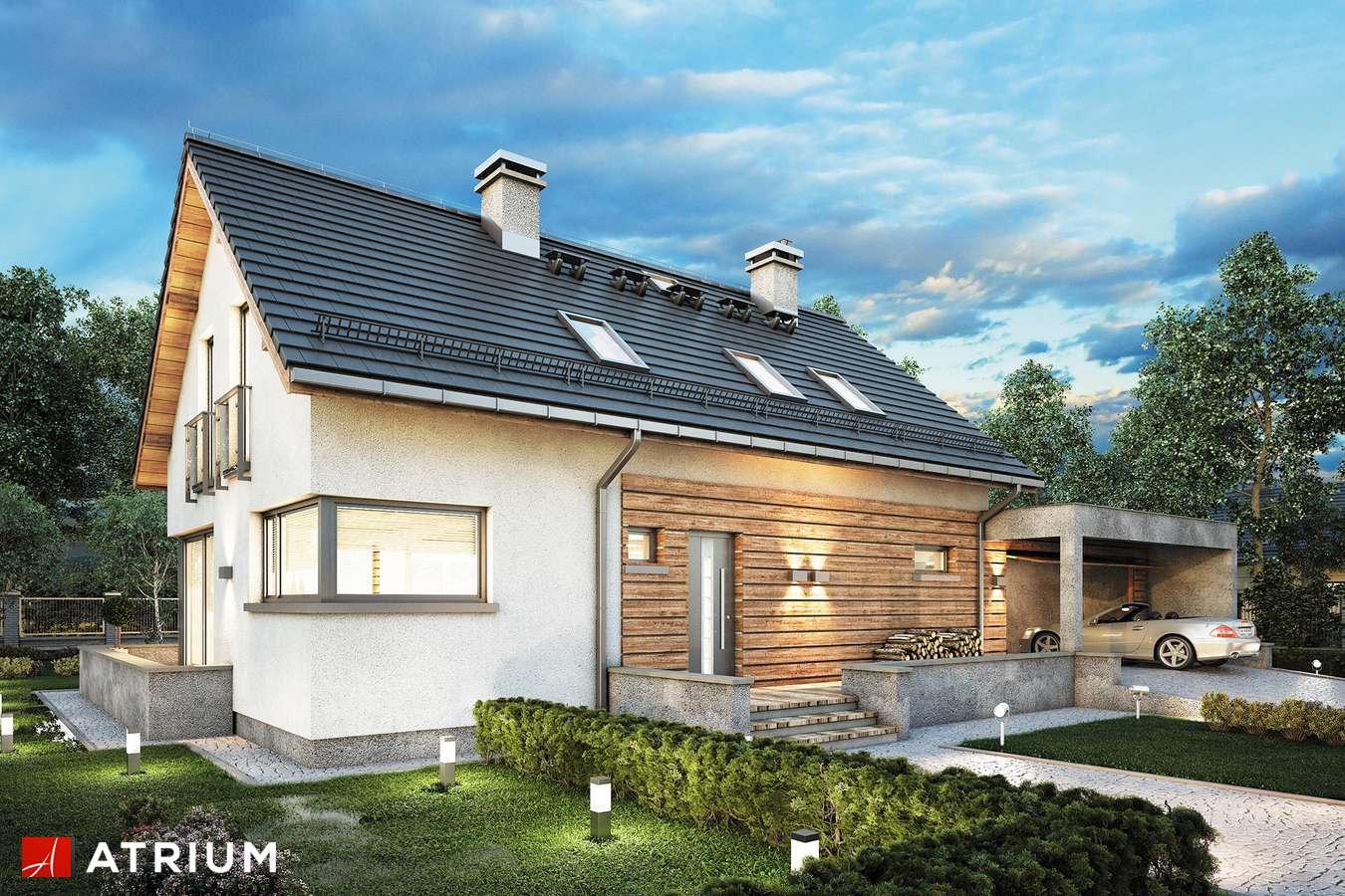 Projekty domów - Projekt domu z poddaszem SALSA II - wizualizacja 2 - wersja lustrzana