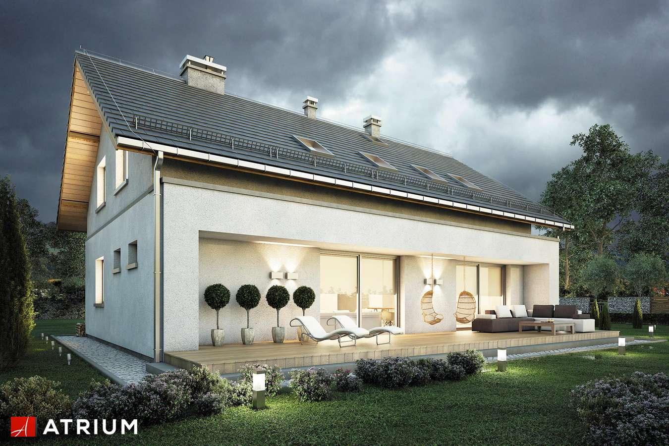 Projekty domów - Projekt domu z poddaszem AWANS - wizualizacja 2