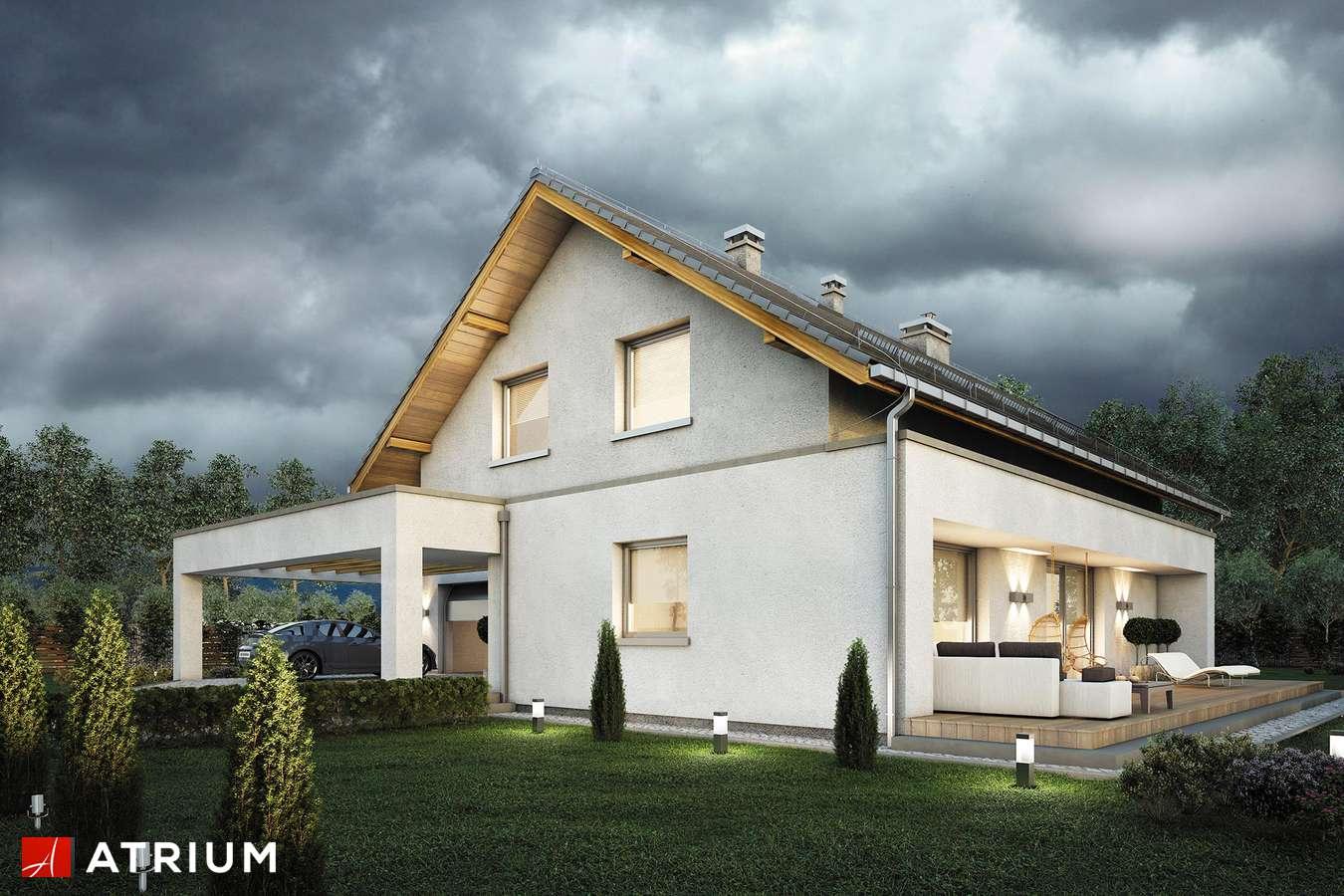 Projekty domów - Projekt domu z poddaszem AWANS - wizualizacja 1 - wersja lustrzana