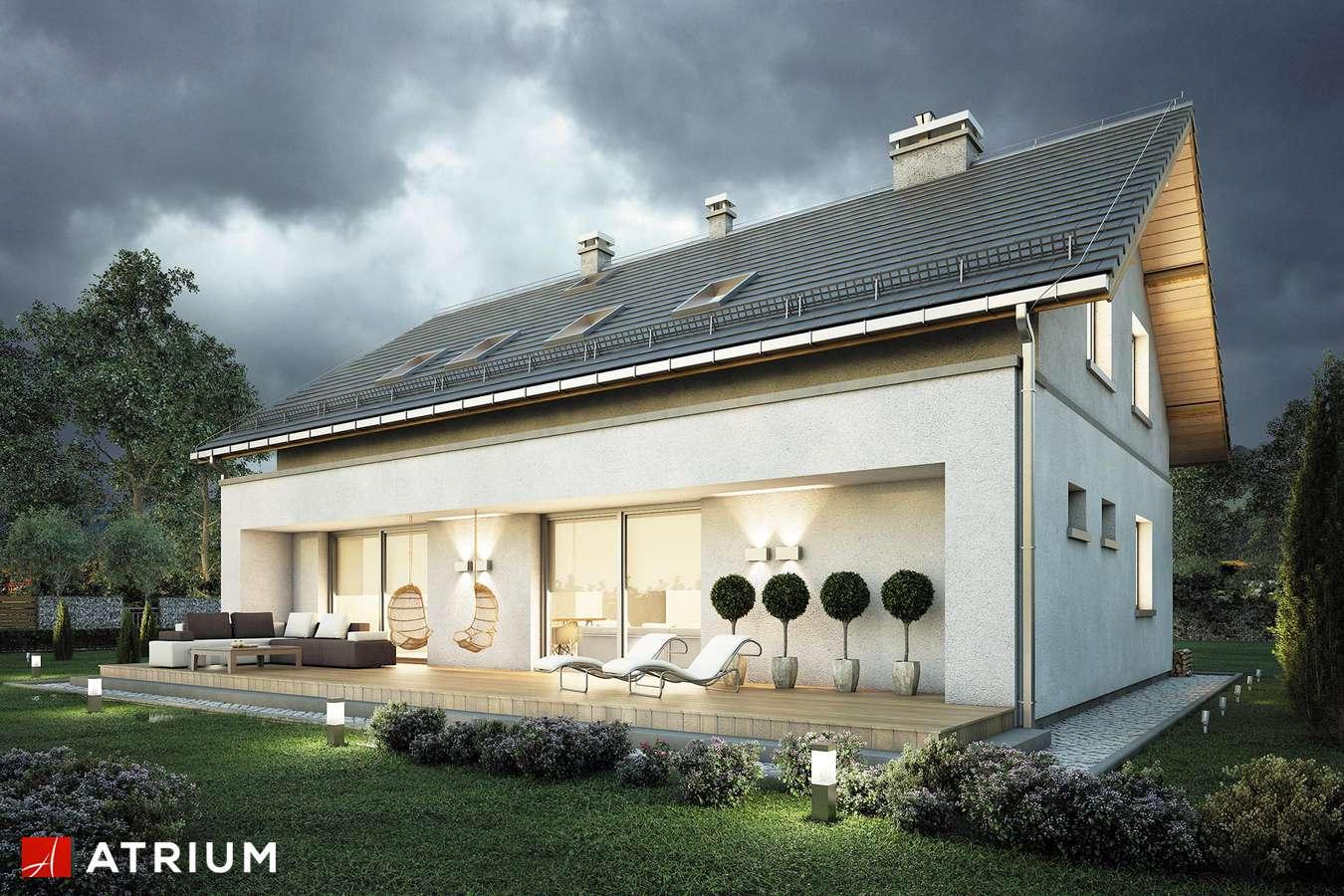 Projekty domów - Projekt domu z poddaszem AWANS - wizualizacja 2 - wersja lustrzana